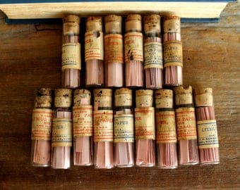 3 Vintage Glass Vials of Litmus Paper--Instant Collection, Industrial Decor