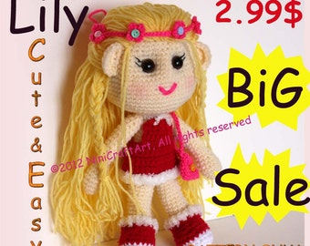BiG Sale Lily : Changeable Clothes Cute and Easy Crochet Doll Pattern ( PDF only )