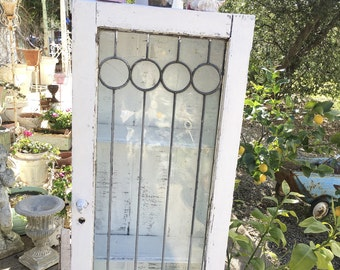 Cupboard Vintage chippy painted white cabinet cottage chic shabby chic prairie
