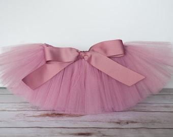 "Rosy mauve tutu ""Rose"" rose pink tutu Newborn tutu baby tutu photo prop birthday skirt size 3 months 6 months 9 months 12 months 18 months"