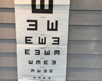 Original Eye Chart 1930's