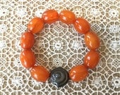 Pretty Bracelet Made of Art Deco Era Vintage Bakelite Beads