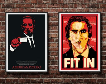 20% OFF! American Psycho 2 Pack - There's an Idea and FIT IN Prints