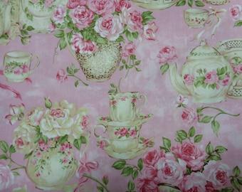 Rachel Ashwell Shabby Chic Fabric Yard Rose Trellis On Sage