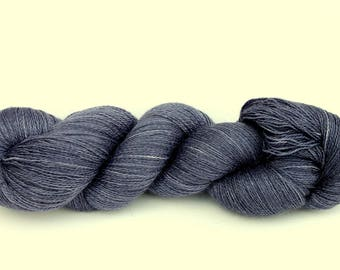 """Kettle Dyed Lace Yarn, Baby Alpaca, Silk, and Cashmere Lace Weight, in """"Thundercloud"""""""