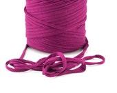 T-shirt yarn - Chunky, bulky, thick cotton yarn - purple, plum, aubergine, eggplant, pantone 254
