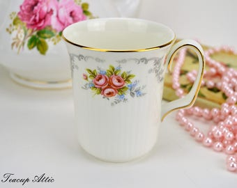 Royal Albert Tranquility Mug, Vintage English Bone China Coffee Mug, ca. 1969-2001