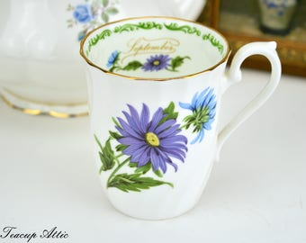 Royal Kendall September Mug, English Bone China Coffee Mug, Birthday Gift