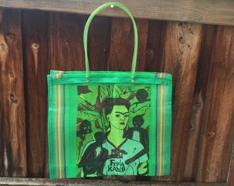 Green Frida Kahlo Market Tote bag