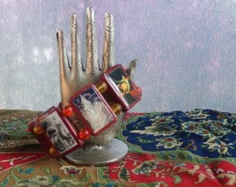 Loki Wooden Bracelet. Devotional Bracelet. Pagan Polytheist Heathen Devotional Jewelry.