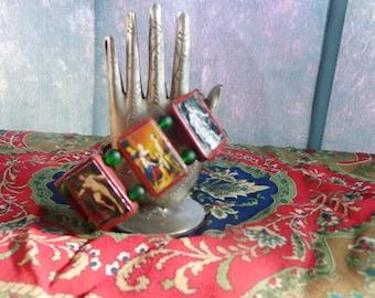 Freya Wooden Bracelet. Devotional Bracelet. Pagan Polytheist Heathen Devotional Jewelry. Freja