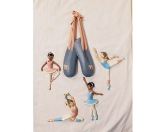 Ballet Wall Plaques 5 Pc Burwood Set 1990 for Home Interiors