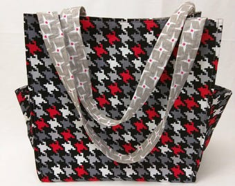 Small Tote - Mod Houndstooth