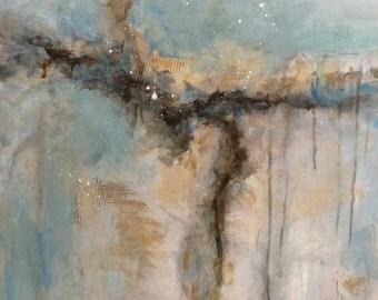 Soft Like the Rain Original Abstract Acrylic Painting