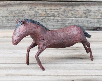 Paper Mache Running Horse