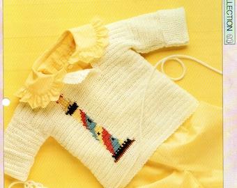 The Creative Needles Jolly Lighthouse Baby Outfit Jumper, Knitting Pattern, Original Knitting Pattern Sheet