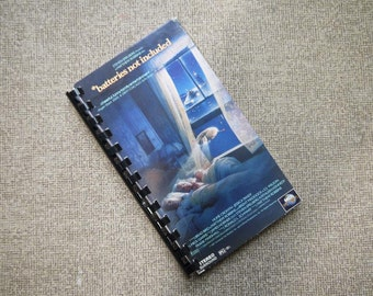 Handmade Batteries Not Included 1987 Movie Repurposed VHS Cover Notebook Journal
