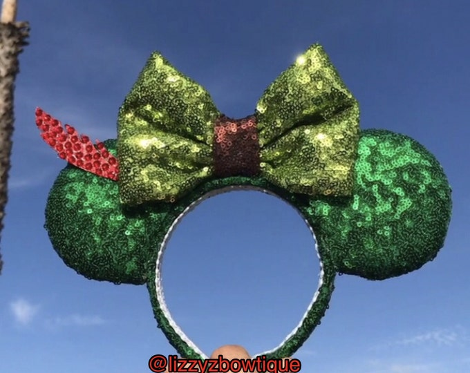 Peter Pan Never Grow Up Sequin Minnie ears