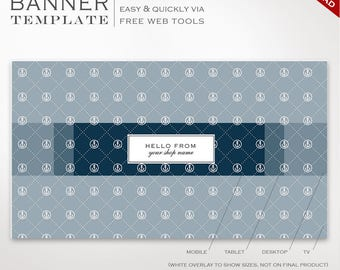 Youtube Banner Template -  Nautical Youtube Channel Art Template - DIY YouTube Channel Art Youtube Profile Header Image SMYT AAC