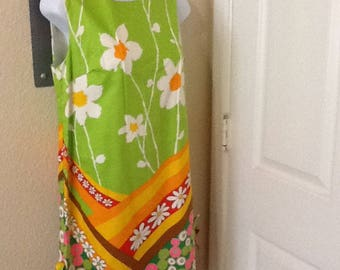 NOS flower power sleeveless dress size 10 see measurements