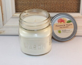 Peaches & Thyme Soy Candle