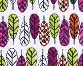 Snuggle Flannel Fabric - Boho Feathers Multi - 25 inches