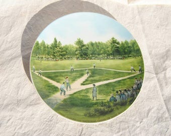 Baseball Collectible Plate Currier and Ives