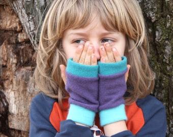 KIDS Cashmere Fingerless Gloves, Girls gloves fingerless, Gift for Girls, present for girls, gift for child