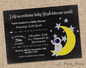 Welcome Space Baby Invite