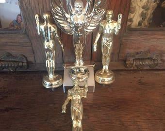 Vintage Dog Trophy Toppers Dog Handlers Set of four