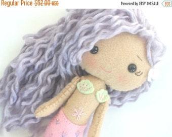 HURRY PRESIDENTS DAY Sale Felt Mermaid Doll - Gingermelon Doll -