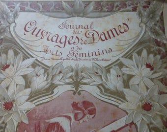 Antique Sewing Magazine,  Art Nouveau, French, Ouvrages de Dames, Dated 1905