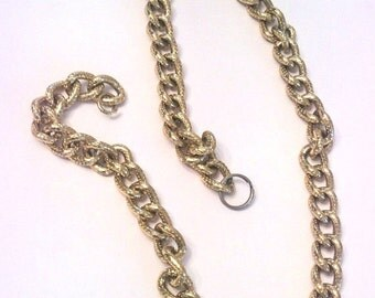 Victorian Revival Snake Chain Necklace Vintage Jewelry SALE