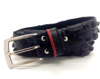 "Bicycle Tire Belt ""NO LOGO"" (upcycled vegan handmade) by tirebelt.com - Fall Collection 2016"