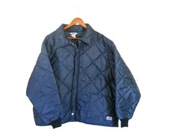 Puffer Coat 3X Men Winter Coat Men Winter Jacket Big Smith Nylon Coat Blue Coat Puff Coat Puffy Coat Retro Coat 70s Winter Coat Quilted Coat