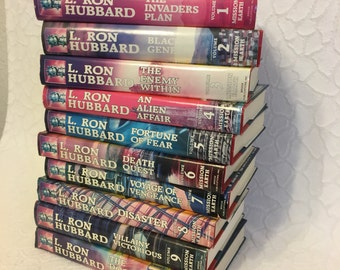 L Ron Hubbard Books, Mission Earth Books, Volumes 1-10, Vintage Science Fiction, Vintage Book Set,