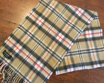 Vintage Extra Fine Merino Wool Scarf Made in England