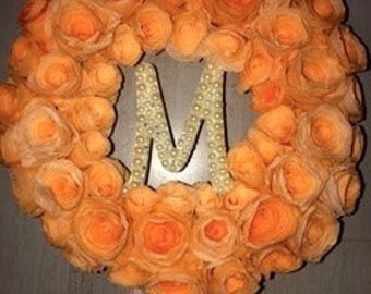 Coffee Filter wreath with monogram