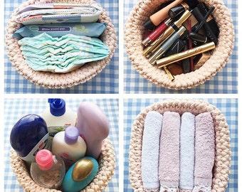SALE, Crochet basket, Storage Basket, Decorative baskets, Home Decor, Jewelry Dish, Organization Storage, set of 2