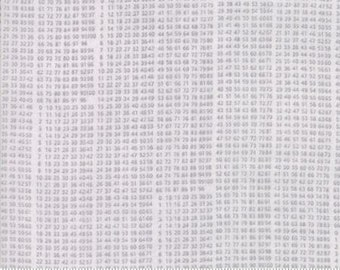 Compositions by Basicgrey for Moda - 10 Key - Grey - Fat Quarter - FQ - Cotton Quilt Fabric 117