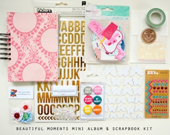 Beautiful Moments Mini Album / Journal and Scrapbook Kit
