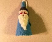 Needle Felted Santa Cone Shape Christmas Ornament