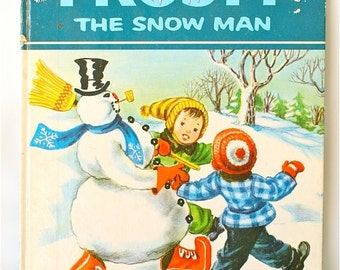 20% OFF Sale 70's Vintage Frosty the Snowman Book