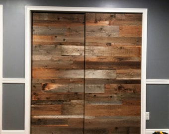 Reclaimed Barn Door- reclaimed wood - sliding door - reclaimed redwood - PRICE is per door