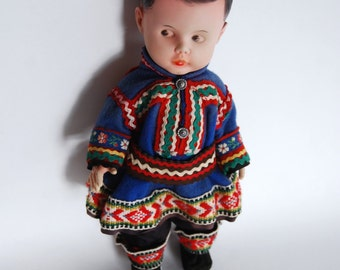 Vintage Ethnic Doll Dressed in a Traditional Outfit
