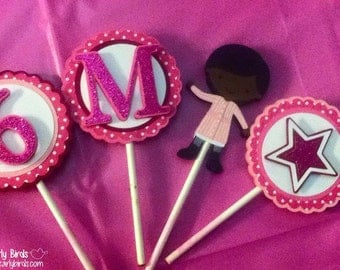 American Girl-Inspired Cupcake Toppers