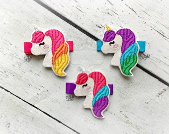 Unicorn Hair Clip Wavy Unicorn Hair Clippie Pick one or two. Pick Left side or Right.