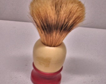 "Vintage Men Shaving Brush "" Ever Ready 150"" Badger Bristle Red White Handle Men Brush Lot no. 311"