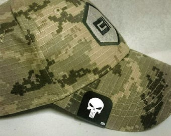 Brim-It Hat Clip- Punisher Style Skull