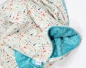 Baby Blanket, Arrows Baby Blanket, Toddler Blanket, Minky Blanket, Kid Blanket, Adult Blanket, Newborn Blanket, Arrows Nursery Blanket
